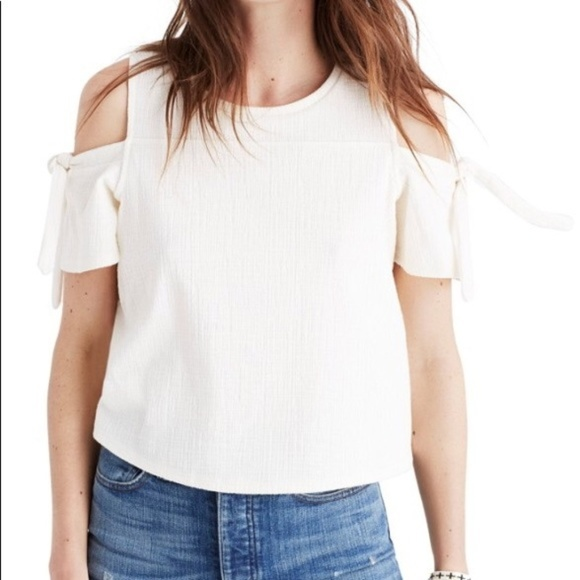23dd0be6429e0 NWT Madewell Skylark Cold-Shoulder Off-White Top
